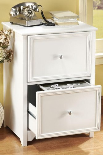 Oxford File Cabinet, 2-DRAWER, WHITE