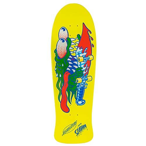 Santa Cruz Neon Gelb Dip Slasher - 31 Inch Skateboard-Deck (One Size, Gelb)