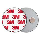 ECENCE Soporte magnético para Detector de Humo - 3 Unidades Soporte magnético Adhesivo para detectores de Humo Ø 50mm - Base sin taladros para Detector Humo y alarmas para casa contra incen