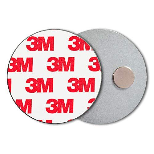 ECENCE Rauchmelder Magnethalter 10 Stück Selbstklebende Magnethalterung für Rauchmelder Ø 50mm...