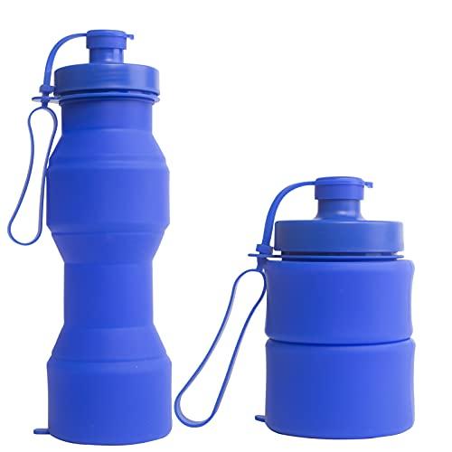 RYHX Botella de Agua Plegable 800ML, Taza de Bebida de Silicona a...