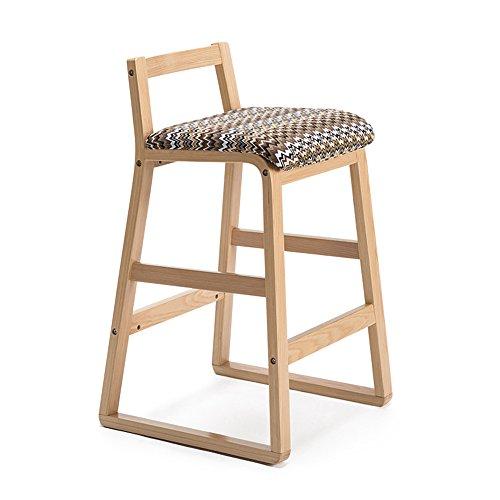 Chaises de bar, tabouret haut en bois massif, tabouret de bar rétro, tabouret de bar, tabouret de bar créatif, tabouret haut (Couleur : Water ripple, taille : 48x47x81.5cm)