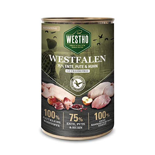 Westho 6 x Westfalen 400g (mit 75% Wildente, Pute & Huhn)