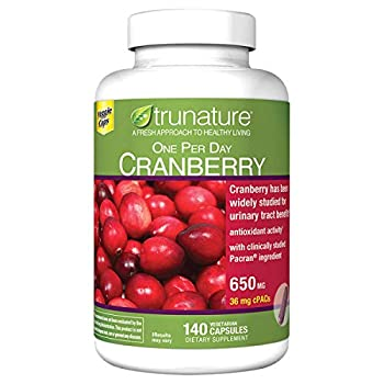 Trunature ONE PER Day Cranberry 650 mg 2 Packs  140 Capsules