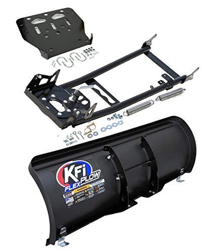 KFI 50' Flex Snowplow Combo Kit - 50' Flex Plow + Mount Bracket + Push Tube - Compatible/Replacement for 2002-2008 Yamaha 660 Grizzly 4x4 (ATV)