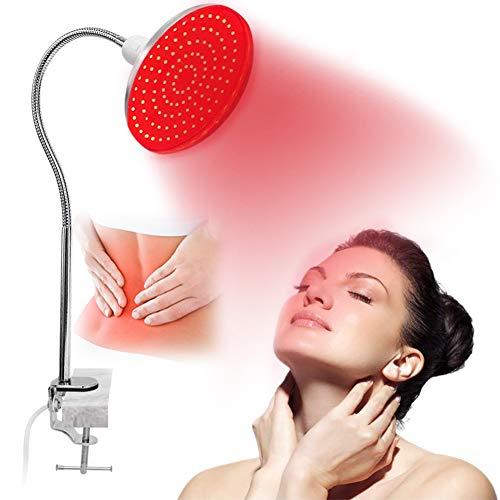EFGSbed Rotlichtlampe, Beauty- Lights Ständer Dabei, 18 LED Rote Gluhbirn Zur Linderung Von Muskelschmerzen, 660 Nm Im Nahen Infrarot, 360 ° Verstellbarer LED-Lampen Für Spa, Hautpflege