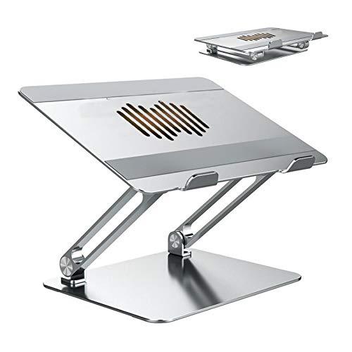 ERTYU Aluminum Laptop Stand Raiser Foldable, Multi-Angle Adjustable Laptop Riser with Heat-Vent Ergonomic Laptop Bracket for 10-17 Inches Laptops