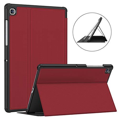 Soke Hülle für Samsung Galaxy Tab S5e 10.5 (SM-T720/T725), Premium TPU Folio stoßfeste hülle, Auto Schlaf/Aufwach für Samsung Tab S5e 10,5 Zoll 2019 Tablet, rot