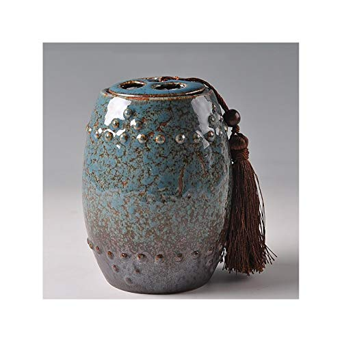 LYQZ Retro Storage Jars, Ceramic Airtight Jars, Cork Tea Storage Jars, Used To Supply Tea, Coffee, Sugar, Spices, Etc. (Color : Blue)