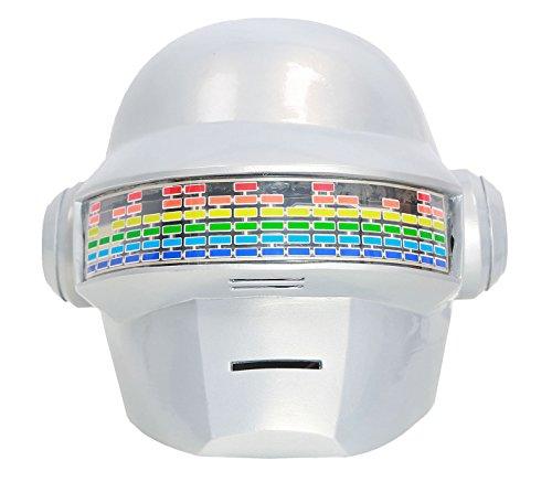 xcoser Daft Shining Punk Helmet Voice Control LED Lights Robot Full Head Mask