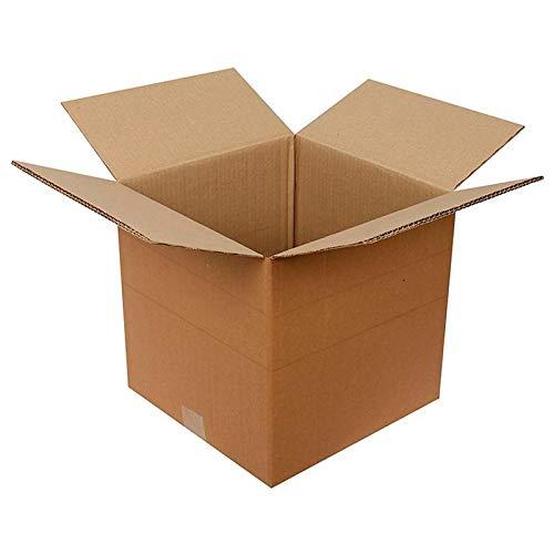 packer PRO Pack 10 Cajas Carton Envios, Almacenaje y Mudanza Ultra Resistentes con Altura Ajustable, 71x71x40,5cm