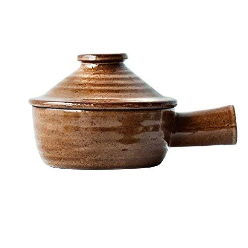 SHYOD Individuales de cerámica Cuencos de calcinación for Horno con la Tapa y la manija pequeña cazuela de Sopa Francesa de Crock