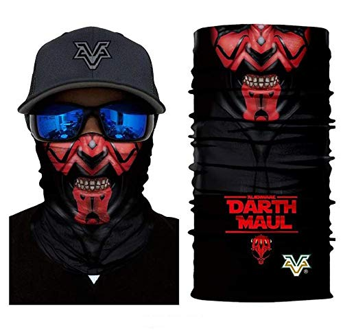 3D Mr.Darth Maul Face Tube Neck Face Scarf Lower Half Face Mask Motorcycle Bicycle Shield Sun Air Soft Outdoor Biker Riding Masks No.69