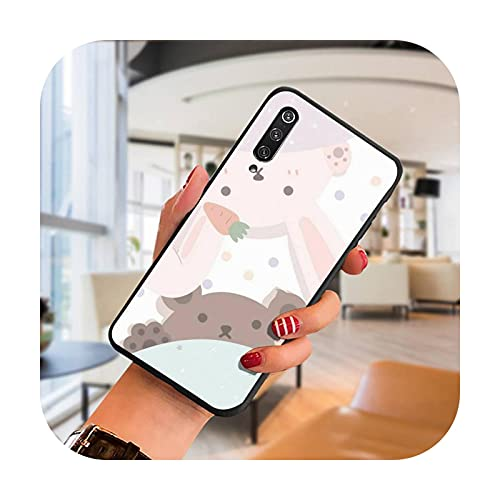 Lindo oso y conejo teléfono caso para SamsungA 51 6 71 8 9 10 20 40 50 70 20s 30 10 más 2018 cubierta fundas coque-a8-para A7 2018