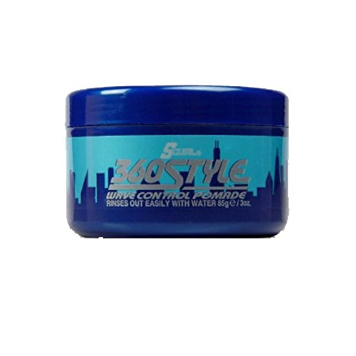 Luster's S-Curl 360 Style, Wave Control Pomade 3 oz (Pack of 12)