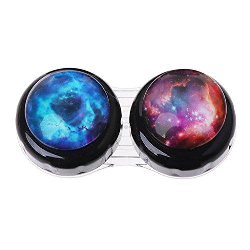Exing Weltraum Kontaktlinsen Behälter Contact Lenses Case Brillenetuis Portable Glasses Case Eyeglass Box,Kunststoff, 6.6x3x2.8cm
