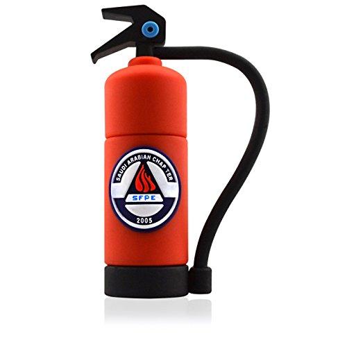 818-Shop No4300020016 Hi-Speed 2.0 USB-Sticks 16GB Feuerlöscher Feuerwehr 3D rot