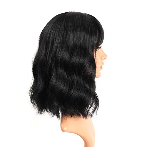 UQinZ-Bob-Curly-Wig-Synthetic-Short-Black-Wig-with-Bangs-Natural-Looking-Heat-Resistant-Fiber-Hair-for-Women-