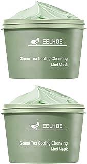 Lurrose 2 Flessen Groene Thee Zuiverende Klei Stick Olie Controle Acne Schoonmakende Modder