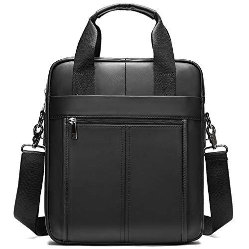 BAIGIO Genuine Leather Shoulder Bag for Men - Spacious Messenger Bag Cross Body Casual...