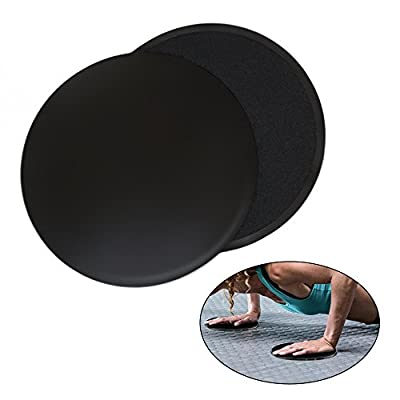 Core Exercise Sliders Gliding Discs for Gym, Home and Travel Total Body Workouts. Abdominal, Chest, Leg Exercise Equipment, Use on Carpet or Hardwood Floors