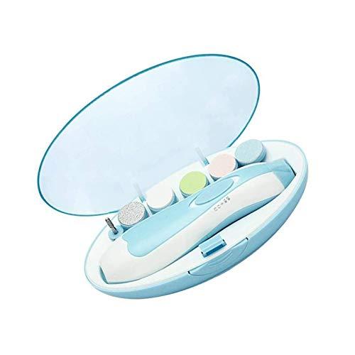 HUI JIN Kit de limas de uñas eléctricas con cortaúñas