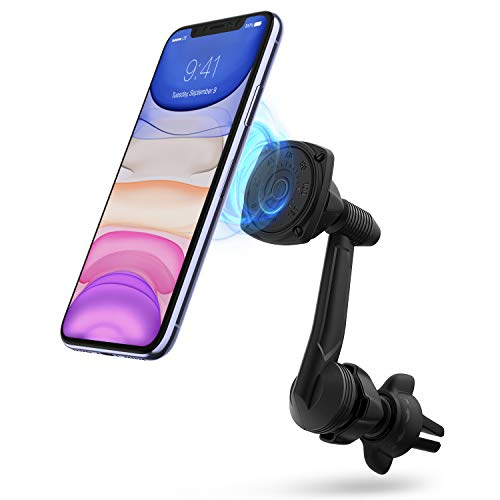 Ringke Power Clip Wing Magnetic Car Mount Phone Holder Premium Air Vent Cradle 360° Rotation Long Reach Neck Cell Phone Automobile Cradles for Universal Smartphone