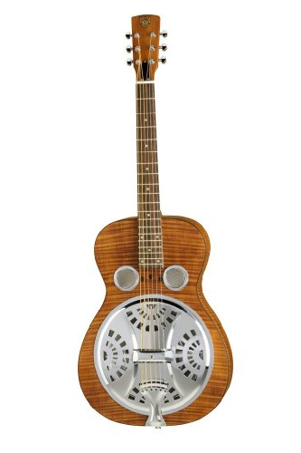 Epiphone Dobro Hound Dog Deluxe Round Neck DWHOUNDLX - Guitarra acústica con cuerdas metálicas, color vintage brown