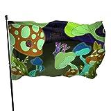 GOSMAO Bandera de jardín Color Vivo de Seta y Resistente a la decoloración UV Bandera de Patio de Doble Costura Bandera de Temporada Banderas de Pared 150X90cm