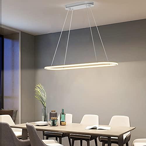 Anten Colgante LED Regulable MAGE | Lámpara de techo 45W con mando a distancia, 4500LM, 3 Temperatura de color, altura ajustable, función de memoria | 90cm anillos | para Comedor, Solon, Cocina