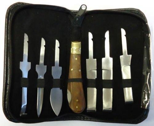 EQUINOX Hufmesser-Set mit Reißverschluss-Etui, hochwertige Qualität, Verschiedene Klingen