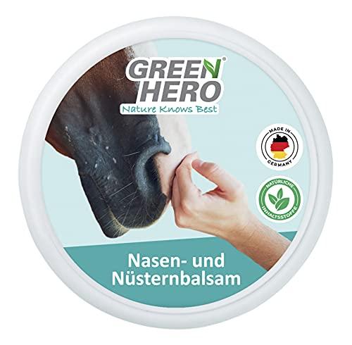 Green Hero Balsamo per naso e narghilè per cavalli, lenisce e protegge i rasoi secchi di cavalli, i noccioli e la mazza. Balsamo di alta qualità con ingredienti naturali da 75 ml