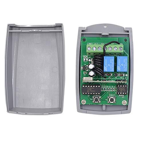 Universal Empfänger für Garagentor Funkempfänger Automatische Tür Automatisierung 433,92 MHz Selbstlernender 2 Kanäle 3A - Stromversorgung 12-24V AC-DC