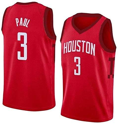 YZY Maglia NBA da Uomo Rockets Chris Paul # 3 Maglia da Basket T-Shirt Fan Vest T-Shirt Tessuto Traspirante Comoda Uniforme Unisex Leggera,XL(180~185CM/85~95KG)