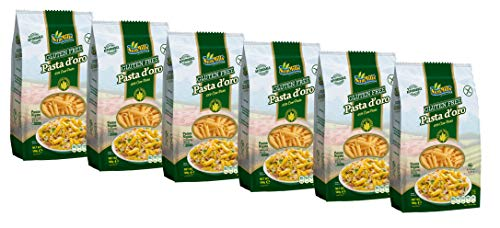 Sam Mills Pasta d'oro Glutenfrei Nudeln (Penne Rigate) aus Maismehl, 12er Pack (12 x 500 g)