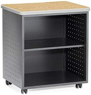 OFM 66745-OAK Mobile Utility Table with Shelf, 27.50