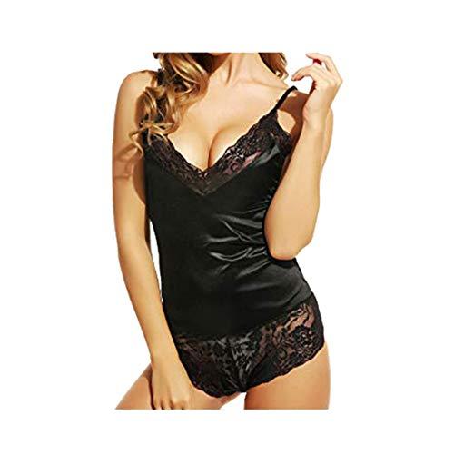 BHYDRY Lenceria Erotica de Mujer Pijamas, Vestido de Encaje de Las Mujeres Ropa Interior Atractivo Babydoll Lencería Liguero
