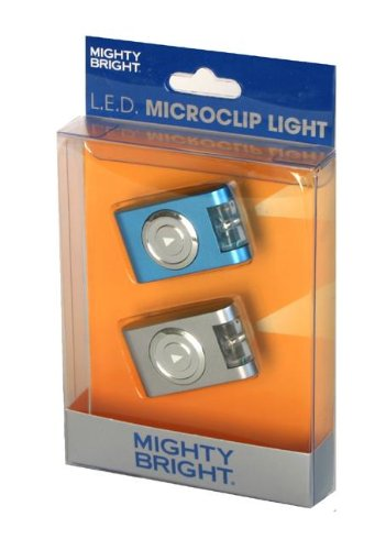 Mighty Bright L.E.D. Microclip 2-Pack (Blue and Silver)
