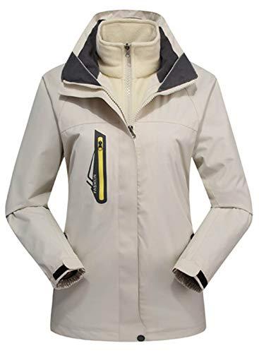 LOSRLY Damen Mode Winter Warm Mantel Berg Wasserdicht Skijacke Winddicht Regenjacke Schnee Oberbekleidung Gr. XXX-Large, beige