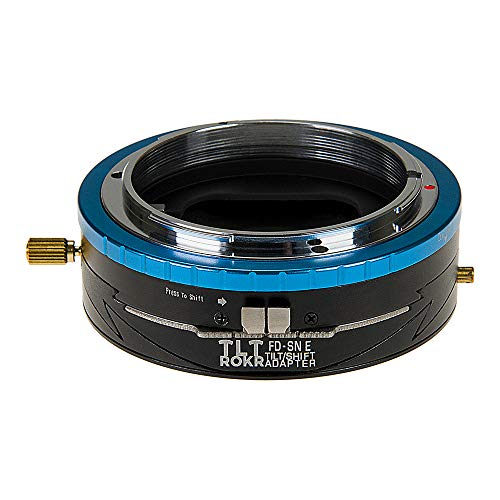 Fotodiox Pro TLT ROKR - Tilt/Shift Lens Mount Adapter for Canon FD & FL 35mm SLR Lenses to Sony Alpha E-Mount Mirrorless Camera Body
