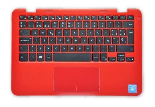 Dell Inspiron 11 3000 Series (3162) Handauflage mit spanischer Tastatur CRG9X VMWH1, Rot