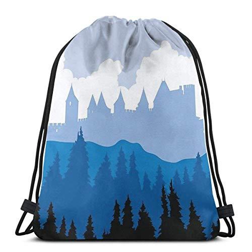 Carcassonne Brettspieler Travel Poster Style - Gaming Art Sport Sackpack Kordelzug Rucksack Gym Bag Sack