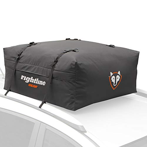 Rightline Gear Range Jr Car Top Carrier, 10 cu ft Sized for Compact Cars, Weatherproof +, Attaches With or Without Roof Rack - 100R50