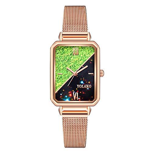 Relojes Para Mujer Ladies Casual Fashion Glass Surface Stee Stee Dtrap Reloj de cuarzo Damas Pulsera para relojes para mujer para Lady Clock Relojes Decorativos Casuales Para Niñas Damas ( Color : B )