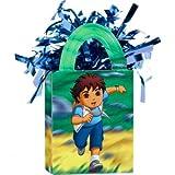 amscan 110209 Go Diego Go! Mini bolsa de peso para niños decoración de fiesta, multicolor, 1 unidad de 14 x 7,6 x 3,8 cm
