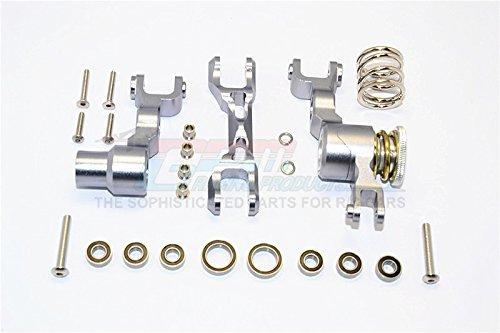 Traxxas X-Maxx 4X4 Upgrade Parts Aluminium Steering Assembly - 1 Set Grey Silver