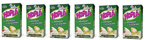 6x Trevalli Hopla Panna da montare e per cucina Sahne zum Kochen Gluten-frei basierend auf pflanzlichen Fetten 1000ml