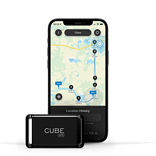 Cube GPS Tracker, Real Time Tracking of Cars, Dogs, Pets, Kids, Motorcycles, Small Portable Tracking Device, Monthly Subscription Required