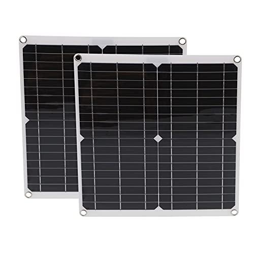 Tablero De Carga Solar, Panel Solar 2Pcs 20V 25W Tamaño Pequeño Flexible Para Reproductores De MP3 Teléfonos Móviles Para Escalada Senderismo Camping Viajes