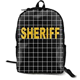 V2 Sheriff - Law Enforcement Duty Police Travel Laptop Backpack, Women'S Computer Business Backpack, Schoolbag, Leisure Hiking Backpack